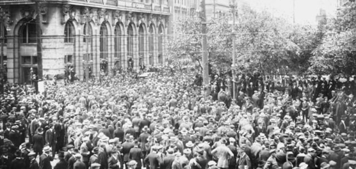 Image for WINNIPEG GENERAL STRIKE WAS 'LARGE AND DIFFICULT DEFEAT' IN 1919 BUT BENEFITS WORKERS TODAY